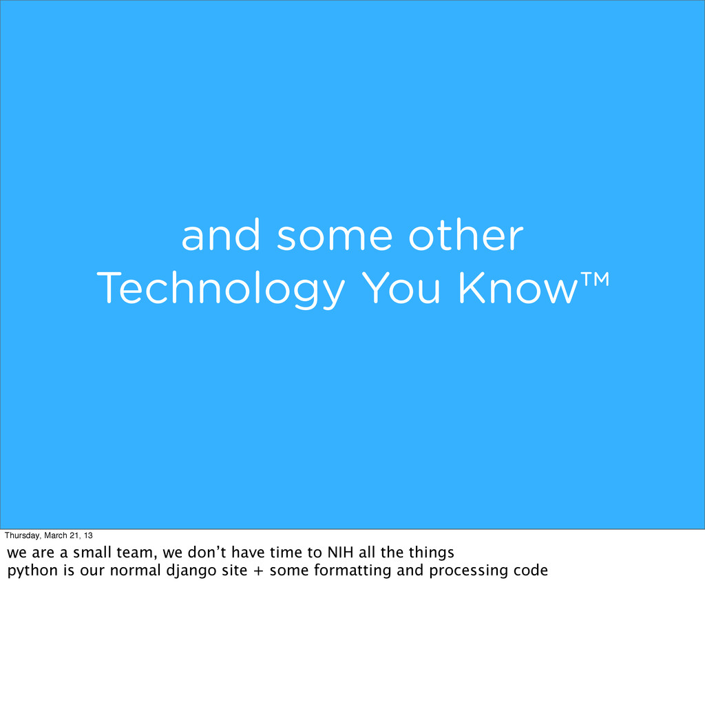 and some other Technology You Know™ Thursday, M...
