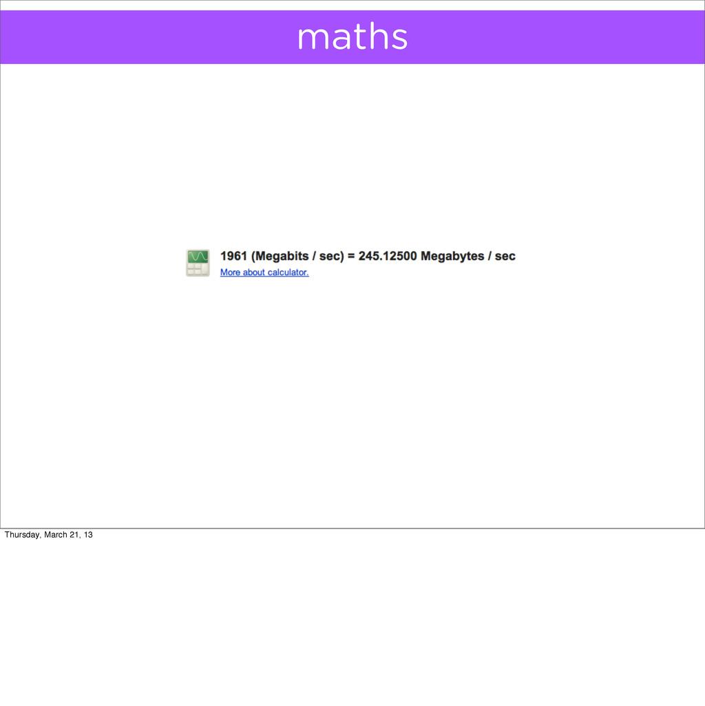 maths Thursday, March 21, 13