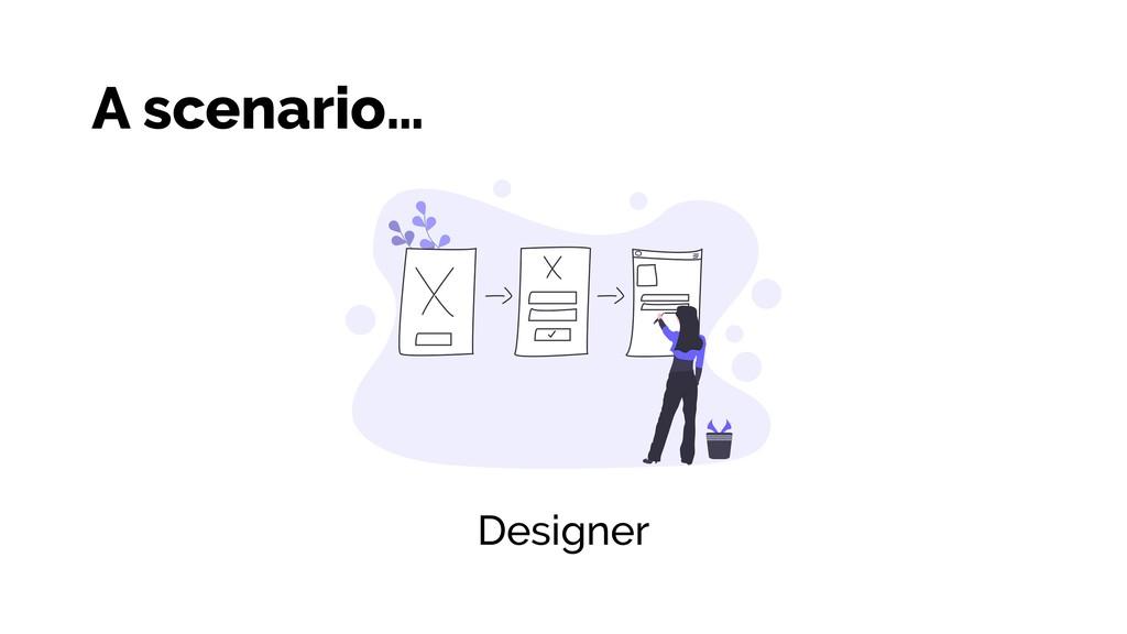Designer A scenario…