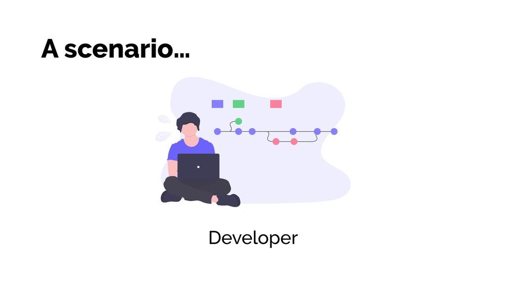 Developer A scenario…