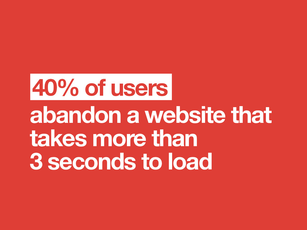 abandon a website that takes more than 3 second...