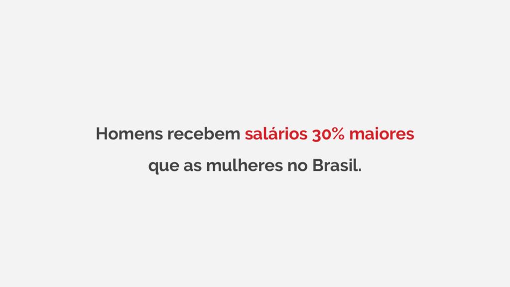 Homens recebem salários 30% maiores que as mulh...