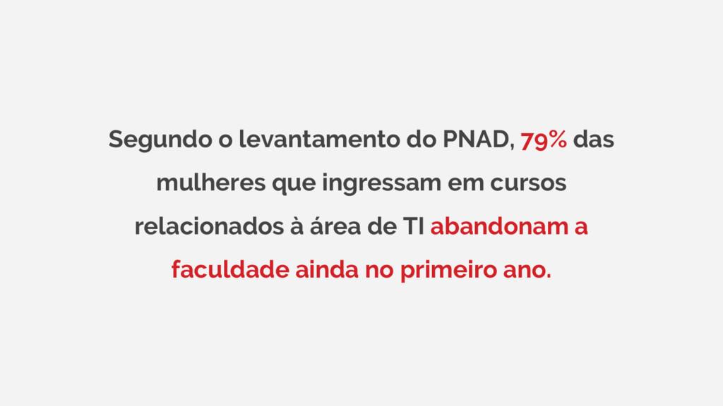 Segundo o levantamento do PNAD, 79% das mulhere...