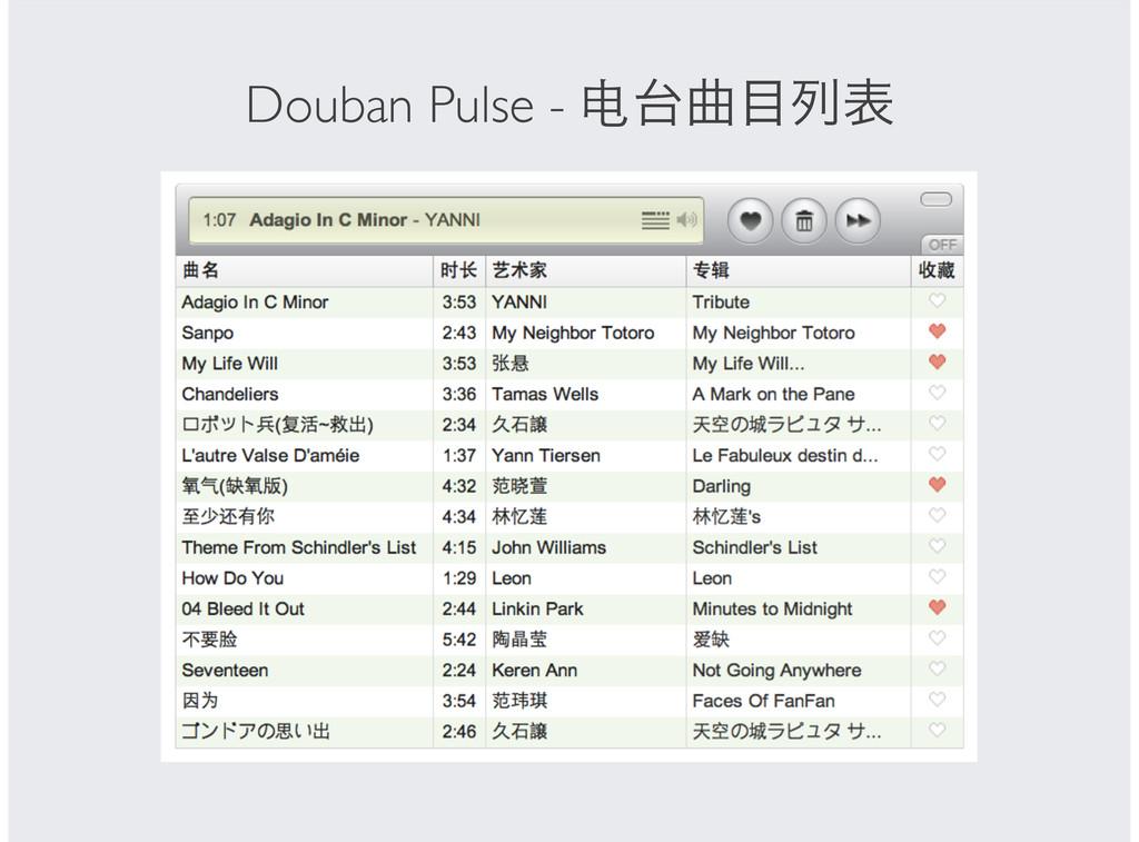 Douban Pulse - ۂྻද