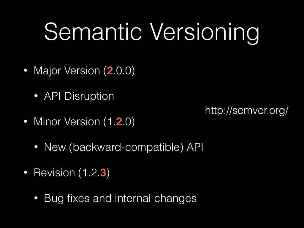 Semantic Versioning • Major Version (2.0.0) • A...