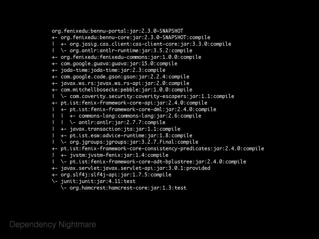 Dependency Nightmare org.fenixedu:bennu-portal:...