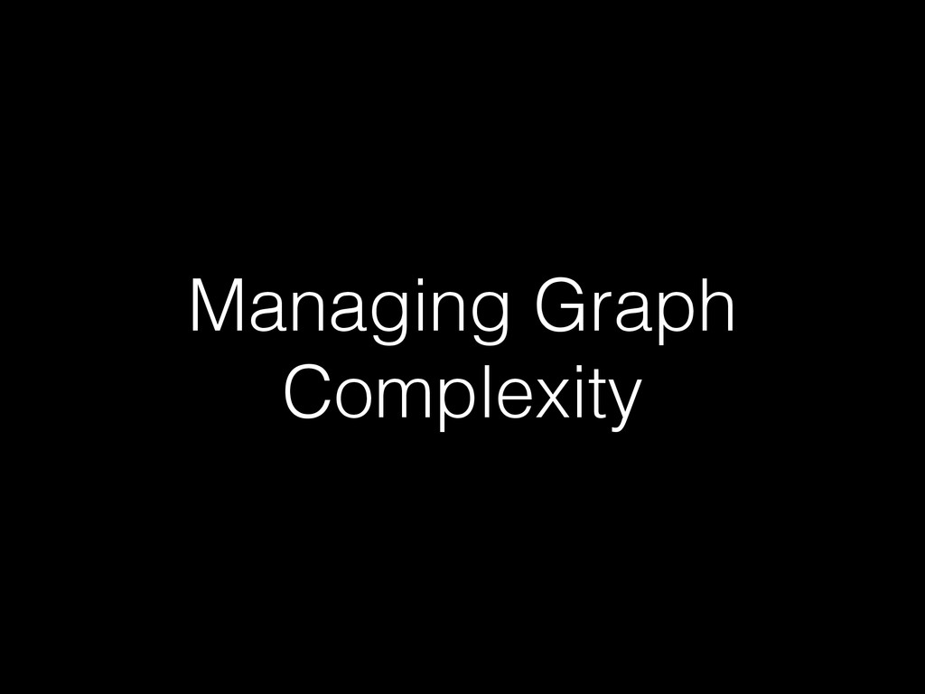 Managing Graph Complexity
