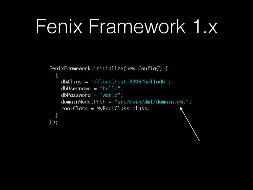 Fenix Framework 1.x FenixFramework.initialize(n...