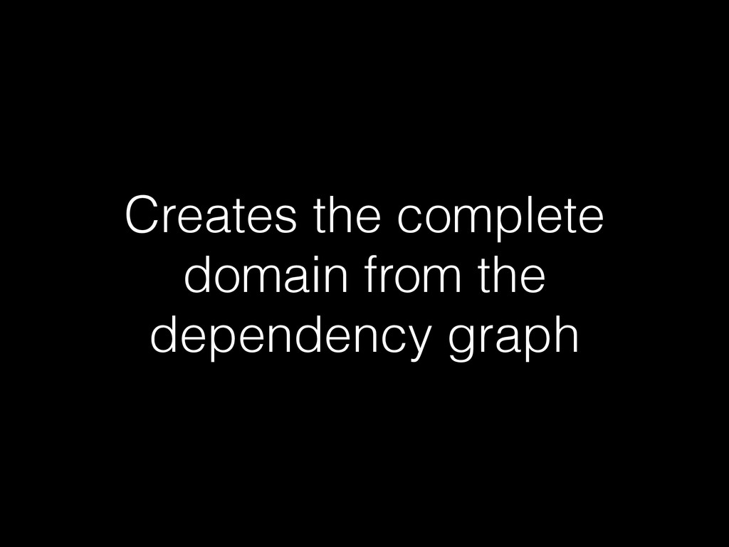 Creates the complete domain from the dependency...