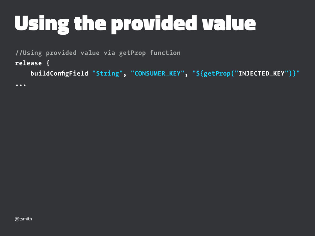 Using the provided value //Using provided value...