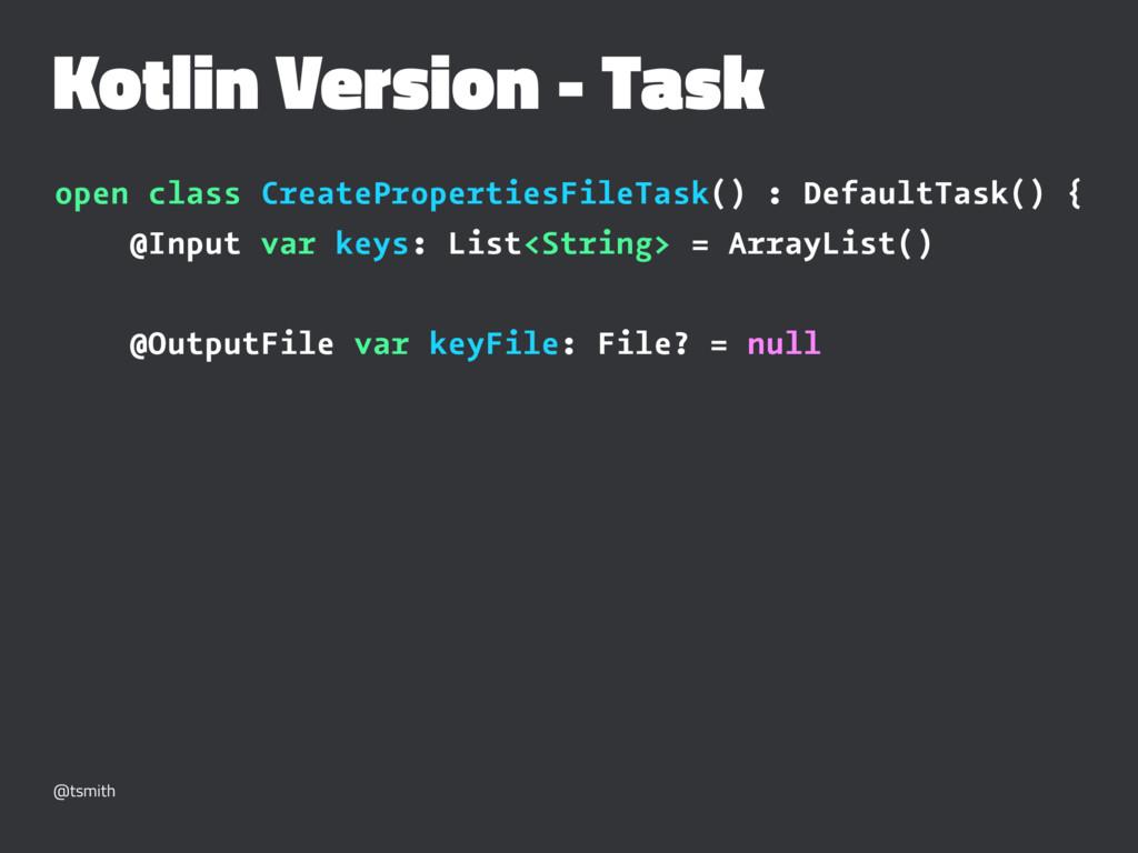 Kotlin Version - Task open class CreateProperti...