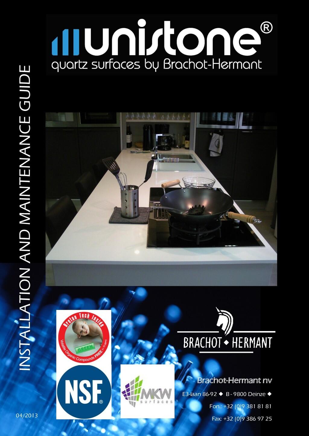 INSTALLATION AND MAINTENANCE GUIDE Brachot-Herm...