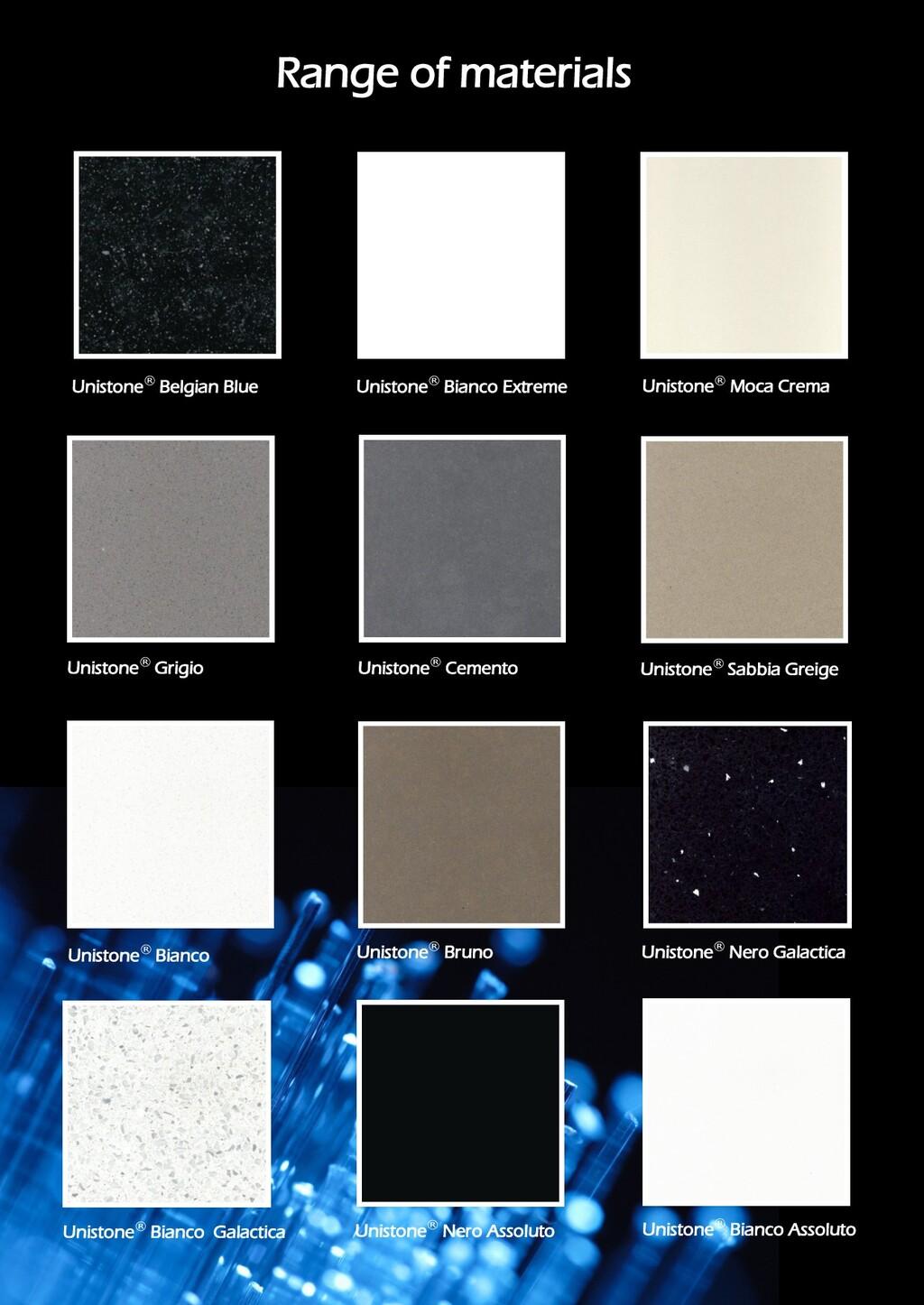 Unistone® Belgian Blue Unistone® Bianco Extreme...