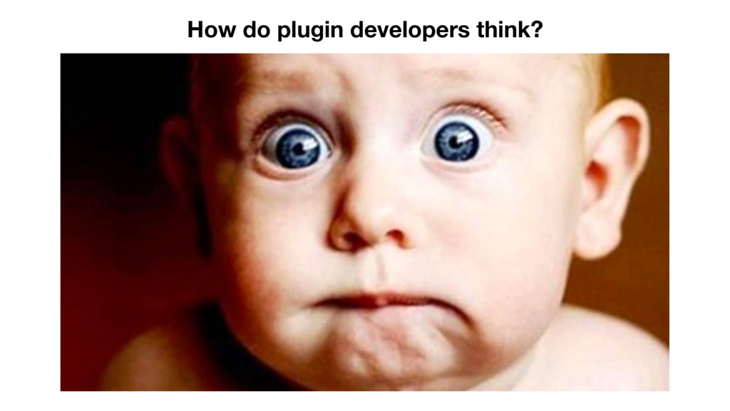 How do plugin developers think?