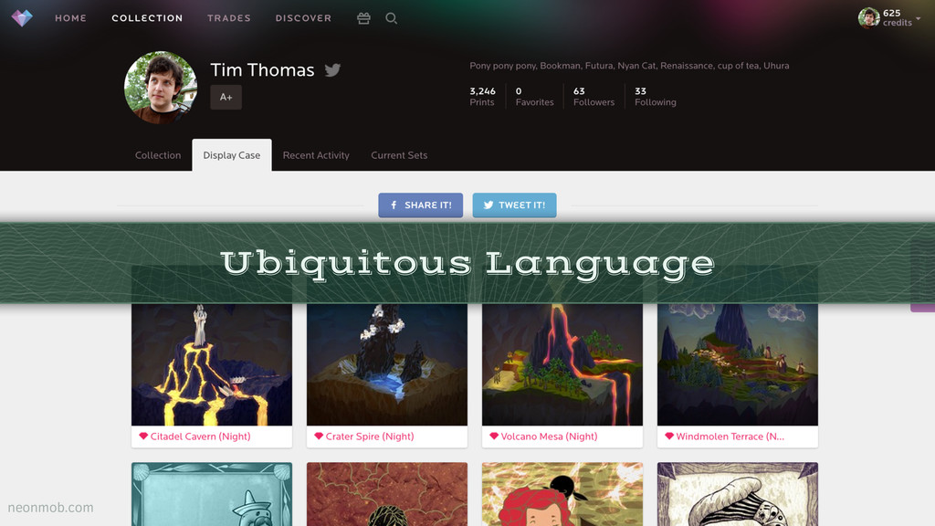 Ubiquitous Language neonmob.com