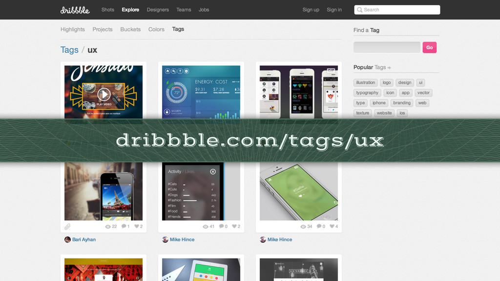 dribbble.com/tags/ux