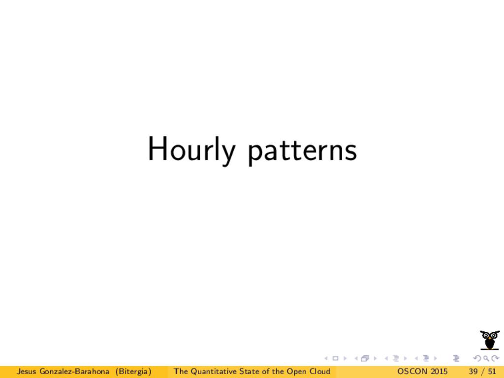 Hourly patterns Jesus Gonzalez-Barahona (Biterg...