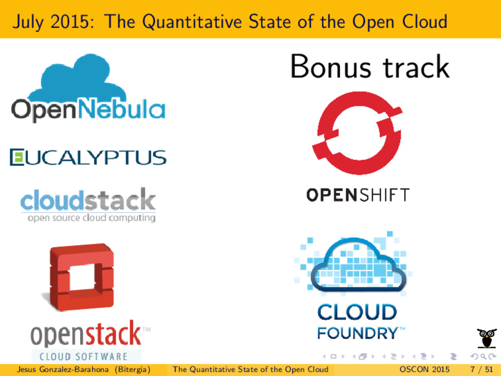 July 2015: The Quantitative State of the Open C...