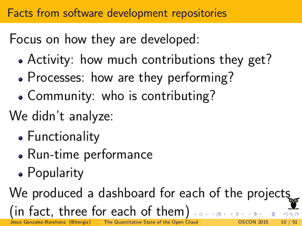 Facts from software development repositories Fo...