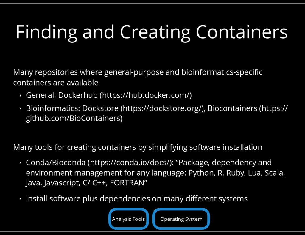 Finding and Creating Containers Many repositori...