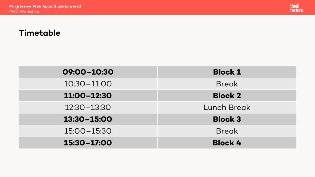 09:00–10:30 Block 1 10:30–11:00 Break 11:00–12:...