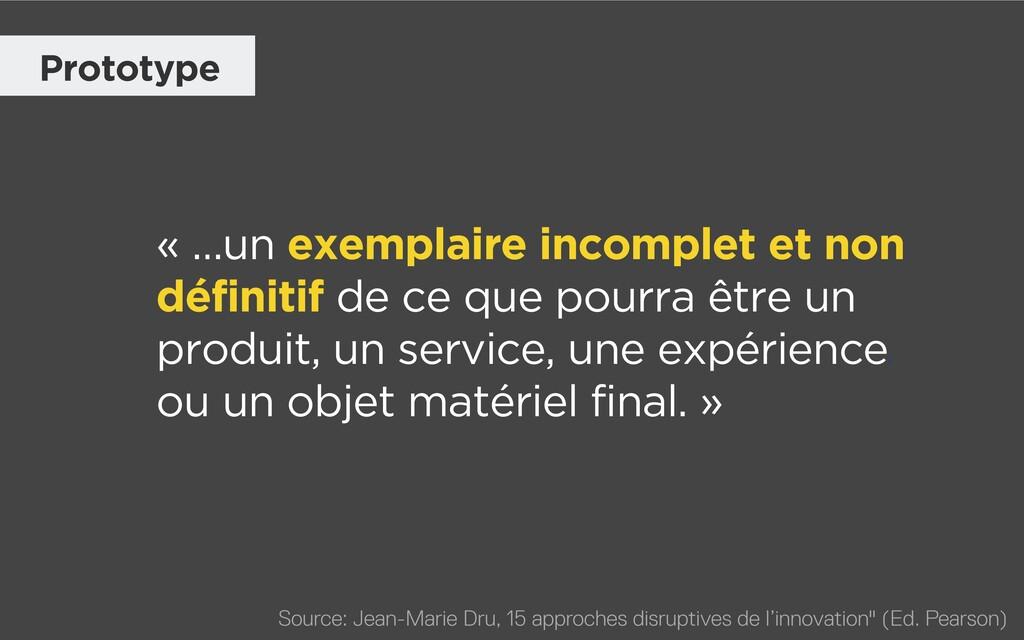 « …un exemplaire incomplet et non définitif de ...