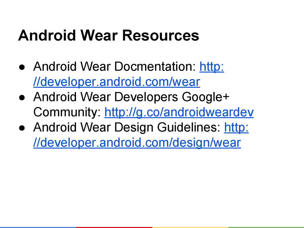 Android Wear Resources ● Android Wear Docmentat...