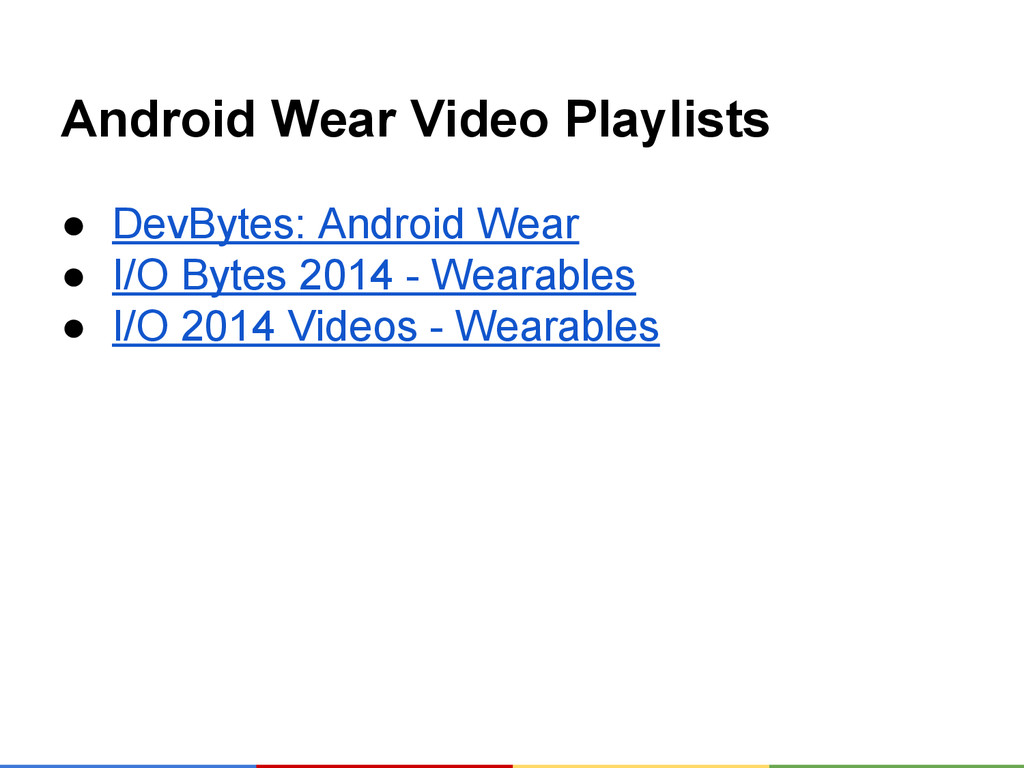 Android Wear Video Playlists ● DevBytes: Androi...