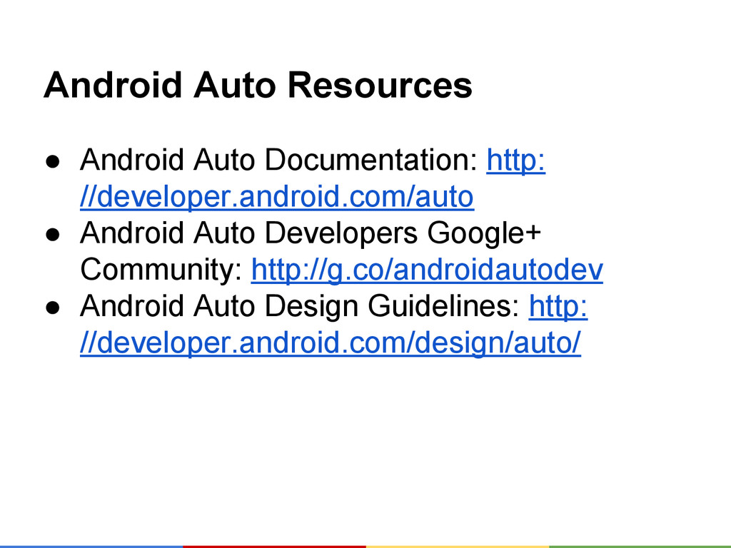 Android Auto Resources ● Android Auto Documenta...