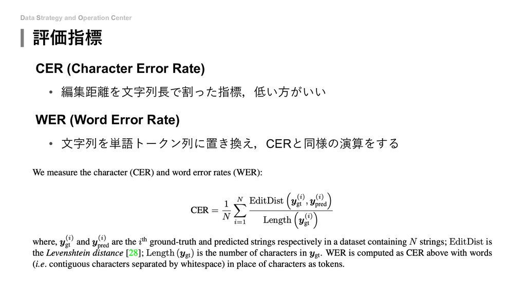 Data Strategy and Operation Center 評価指標 CER (Ch...