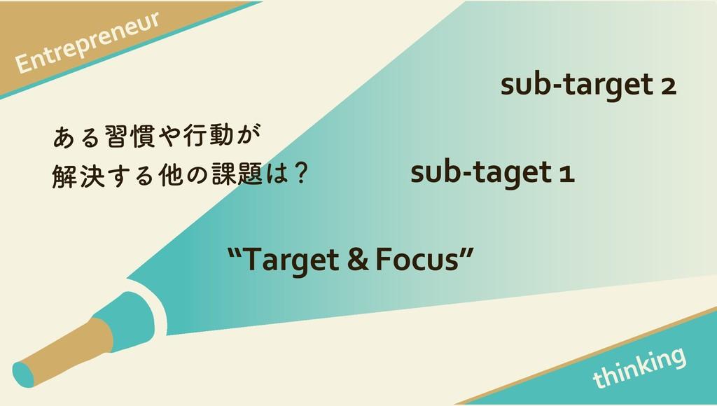 """Entrepreneur thinking """"Target &Focus"""" sub-taget..."""