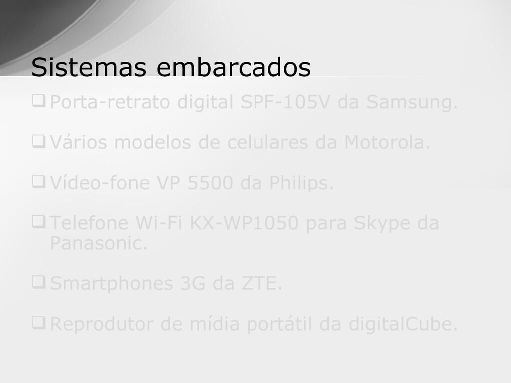 Porta-retrato digital SPF-105V da Samsung. Vá...