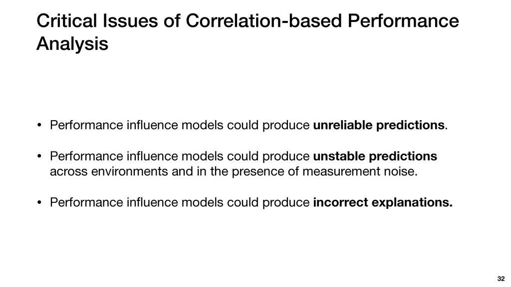 Critical Issues of Correlation-based Performanc...