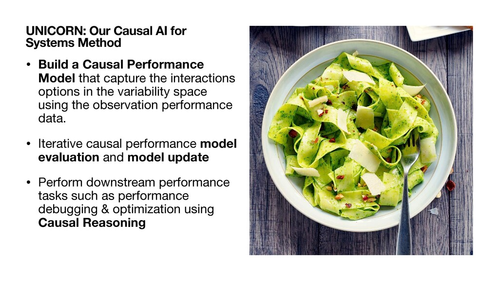 • Build a Causal Performance Model that capture...