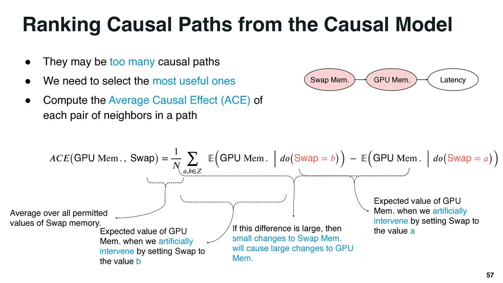 Ranking Causal Paths from the Causal Model 57 ●...