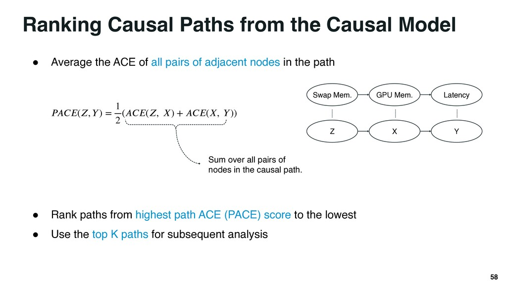 Ranking Causal Paths from the Causal Model 58 ●...