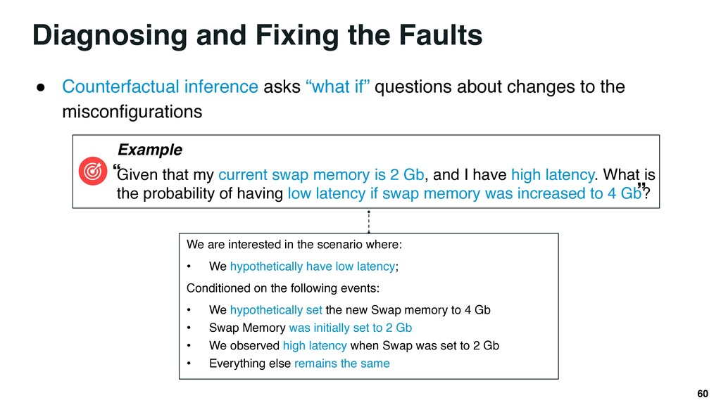 Diagnosing and Fixing the Faults 60 ● Counterfa...