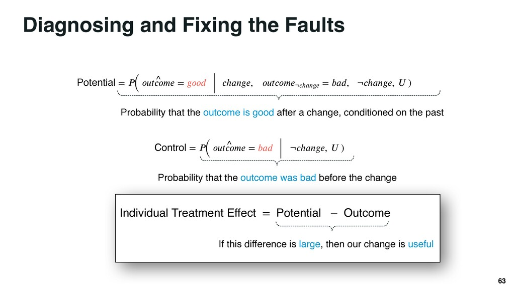 Diagnosing and Fixing the Faults 63 Potential =...