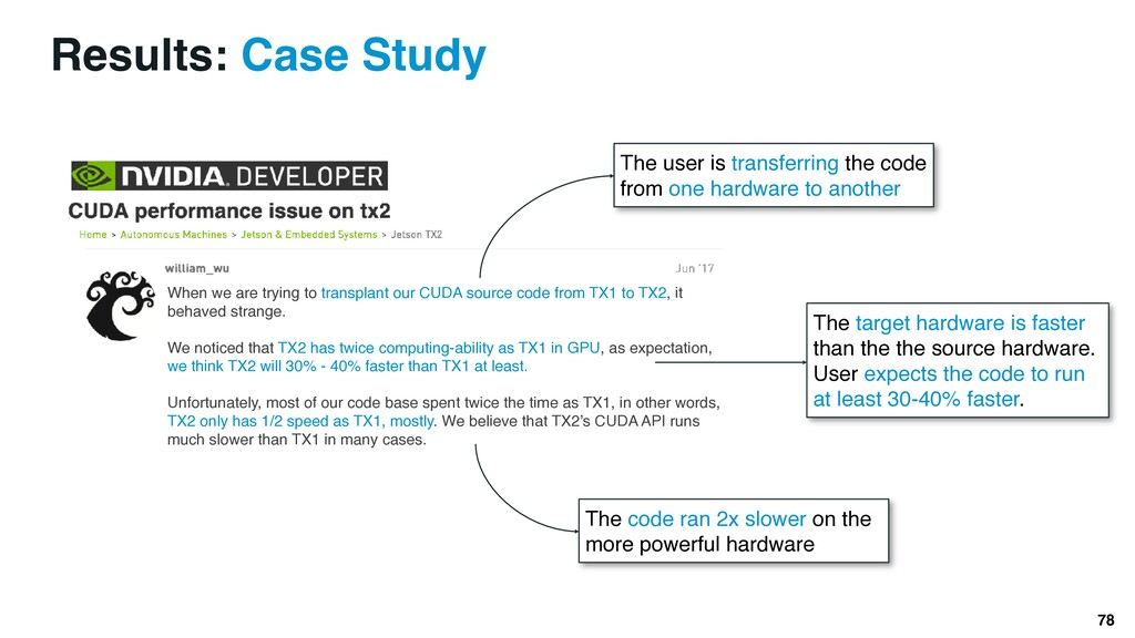 Results: Case Study 78 When we are trying to tr...