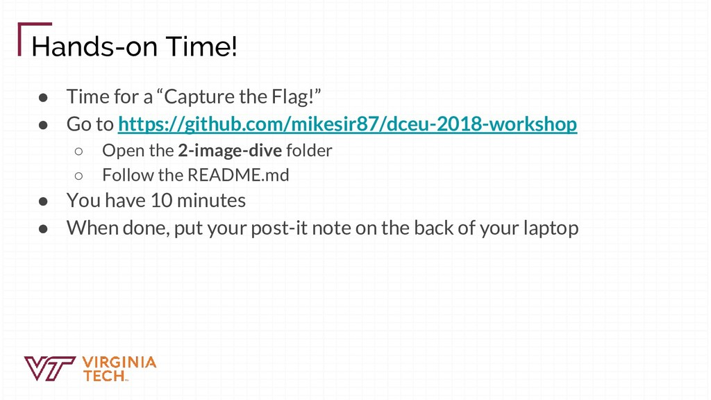 """Hands-on Time! ● Time for a """"Capture the Flag!""""..."""