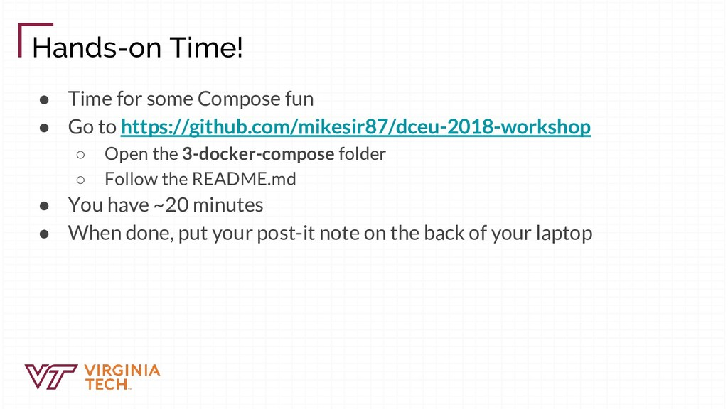 Hands-on Time! ● Time for some Compose fun ● Go...