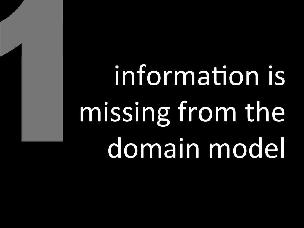 1informa<on is  missing from the ...
