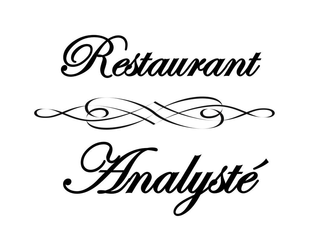 Restaurant Analysté