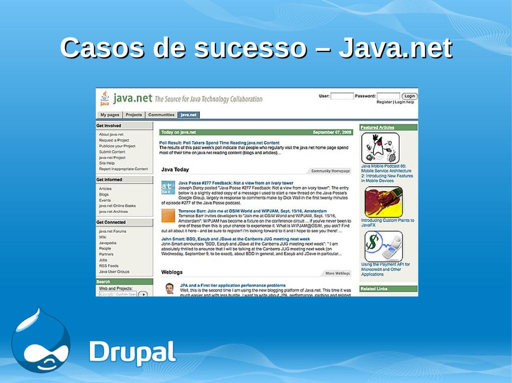 Casos de sucesso – Java.net Casos de sucesso – ...