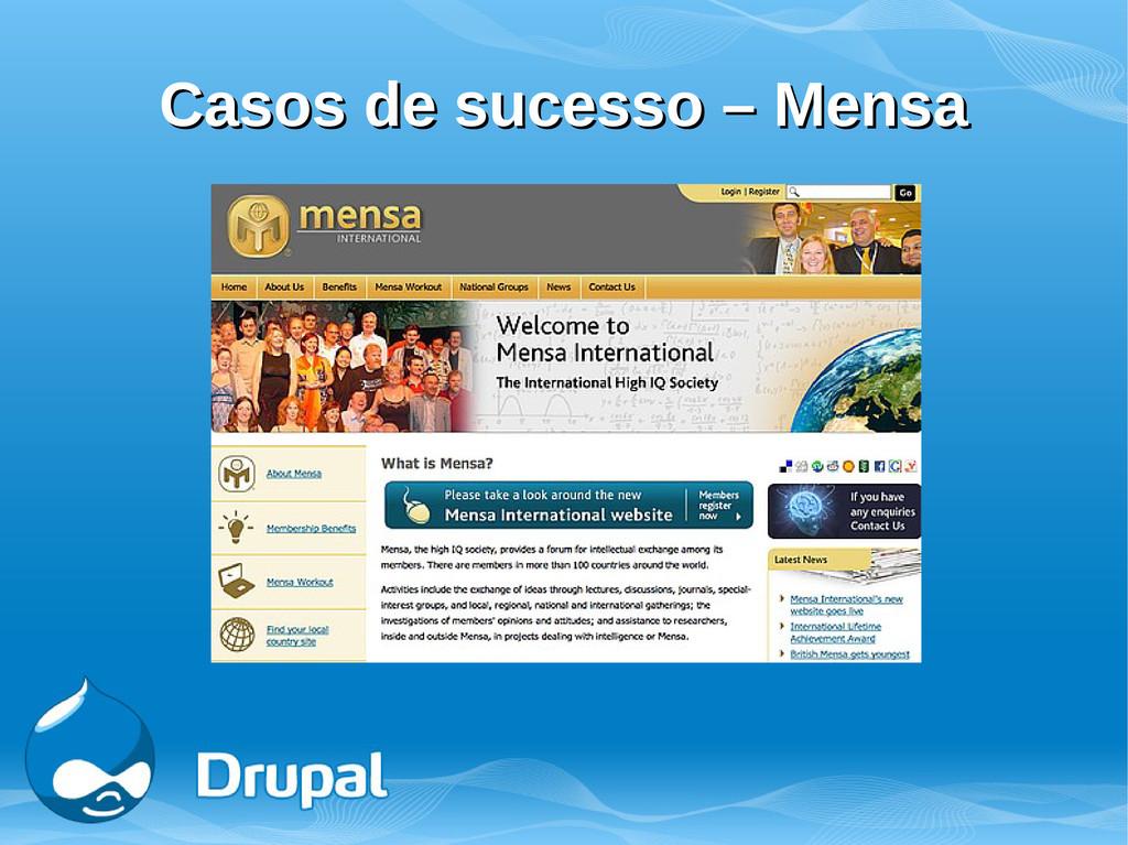 Casos de sucesso – Mensa Casos de sucesso – Men...