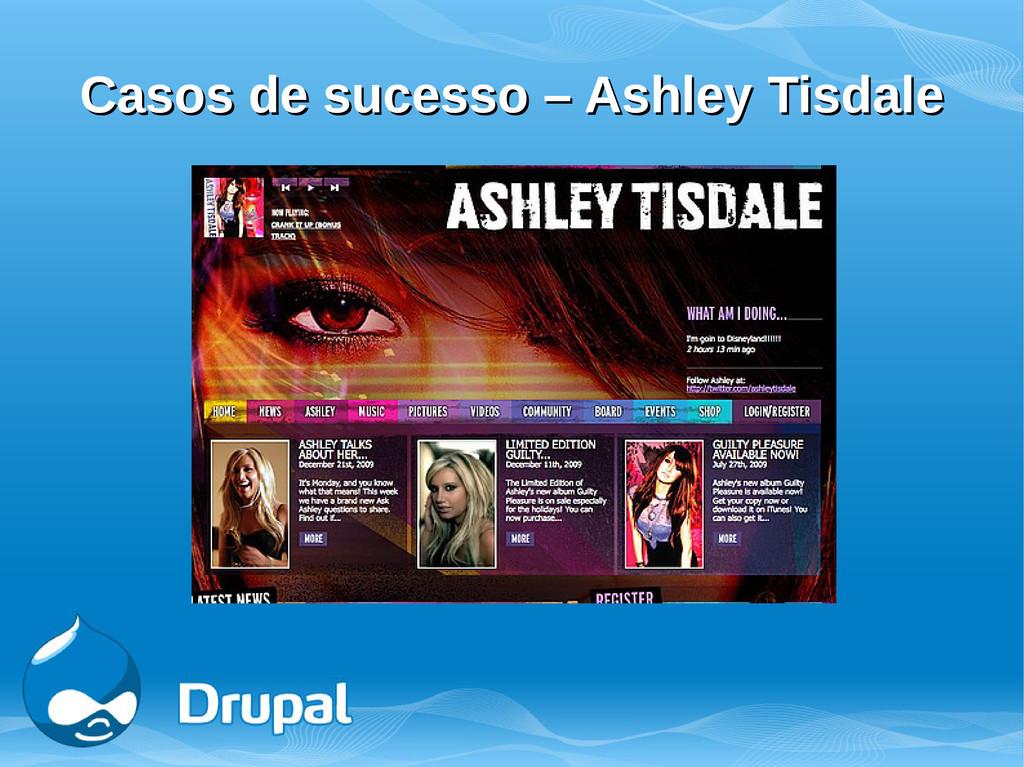 Casos de sucesso – Ashley Tisdale Casos de suce...