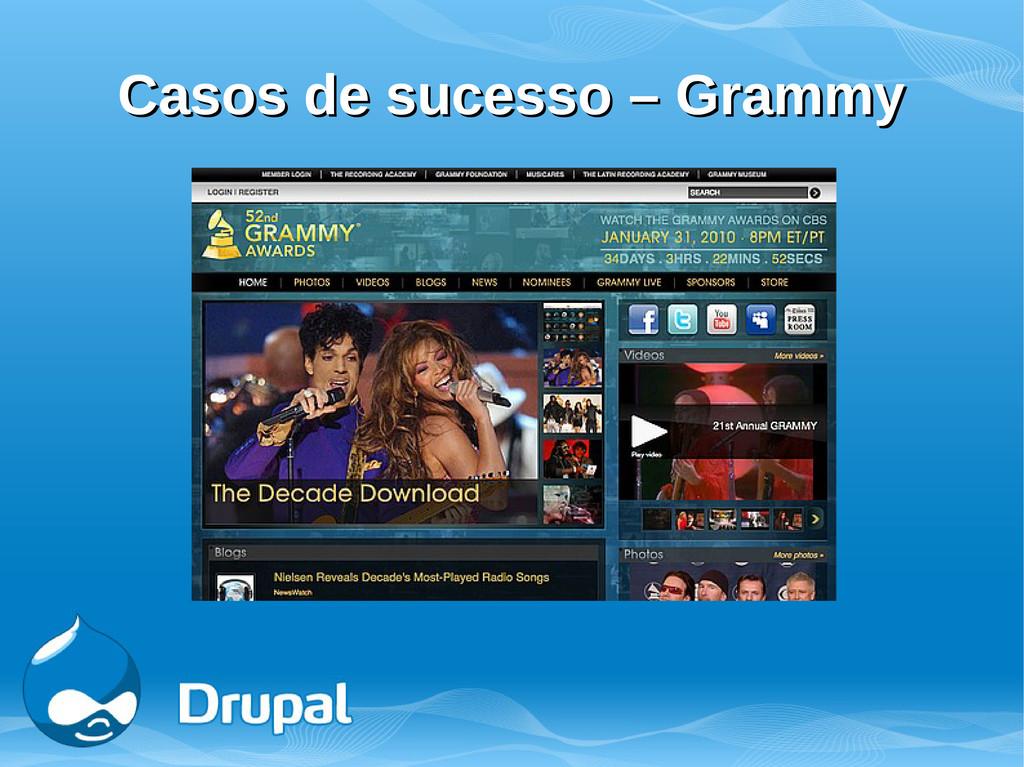 Casos de sucesso – Grammy Casos de sucesso – Gr...