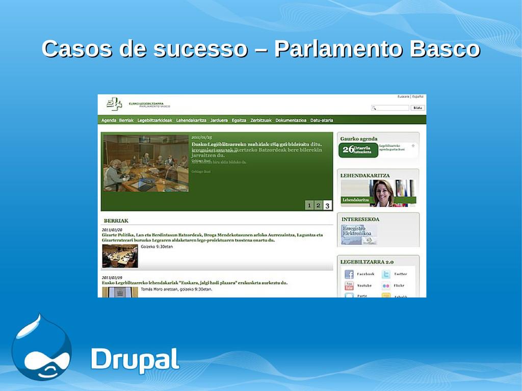 Casos de sucesso – Parlamento Basco Casos de su...