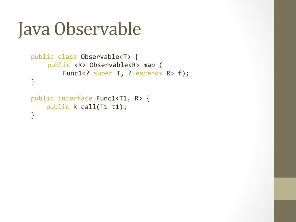 Java Observable  public class Obser...