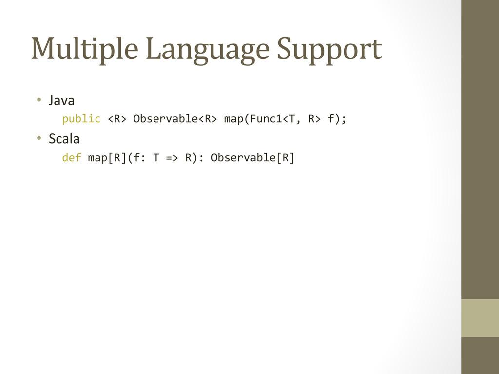 Multiple Language Support  • Java ...